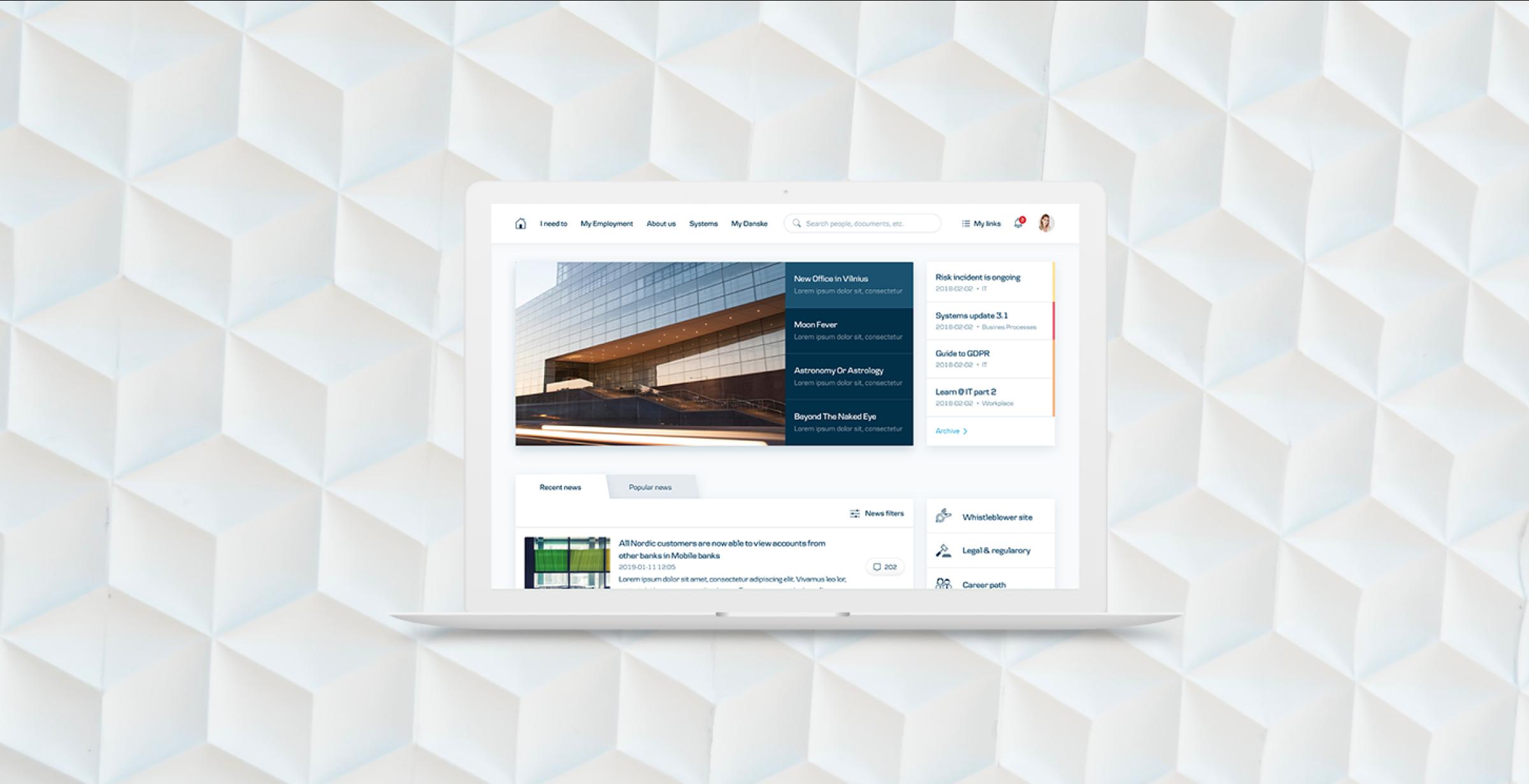 Danske Bank Intranet UX